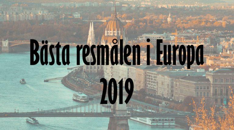 Bästa resmålen i Europa 2019